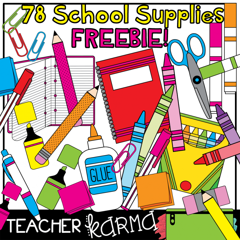School supplies clipart teacherkarma colors pinterest school supplies clipart teacherkarma voltagebd Image collections