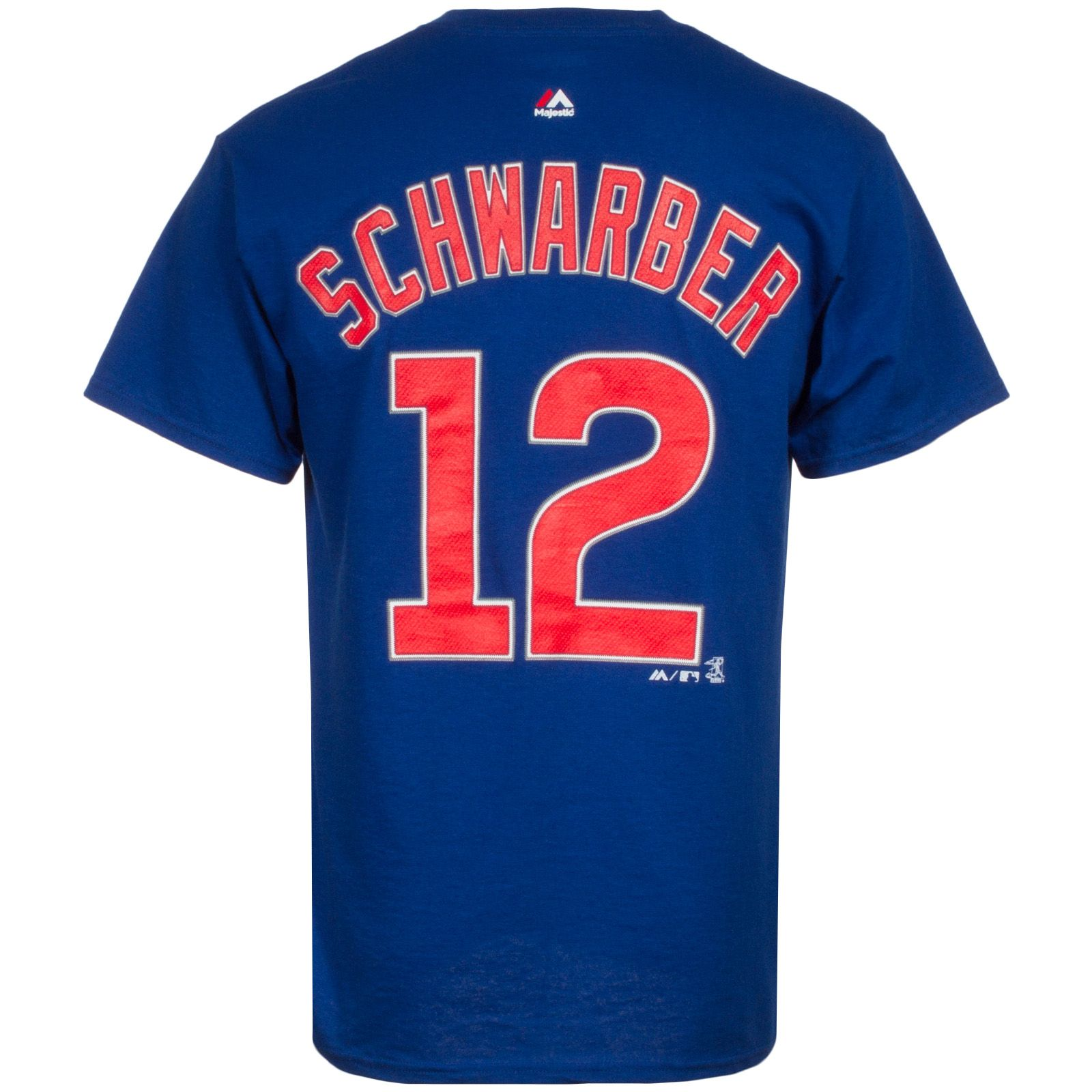 Chicago Cubs Mens Kyle Schwarber Player Tee by Majestic #Chicago #Cubs #ChicagoCubs #KyleSchwarber #Schwarber