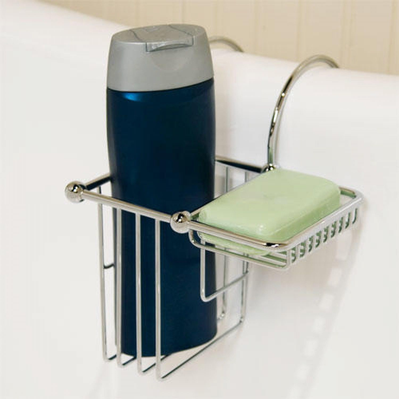 Over The Rim Shampoo Bottle And Soap Basket Clawfoot Tub Bathtub Accessories Free Standing Bath Tub