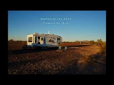 Quartzsite 2014 Plomosa Road BLM Campsite - http://rvhappyhour.com/forums/topic/video-view-plomosa-rd-blm-quartzsite/ #RVing #Boondocking #Quartzsite