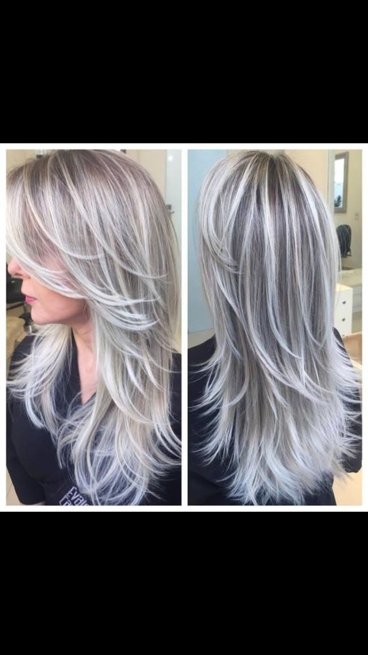 Ash blonde soft balyage