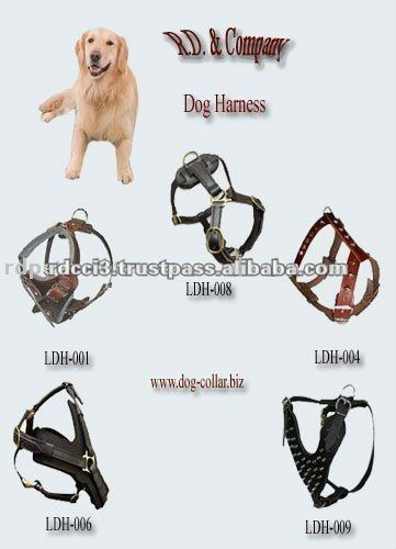 Leather Dog Harness | Leather harness and collars | Pinterest | Dog