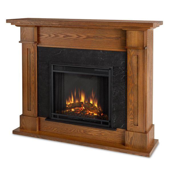 Real Flame Kipling Burnished Oak Electric Fireplace