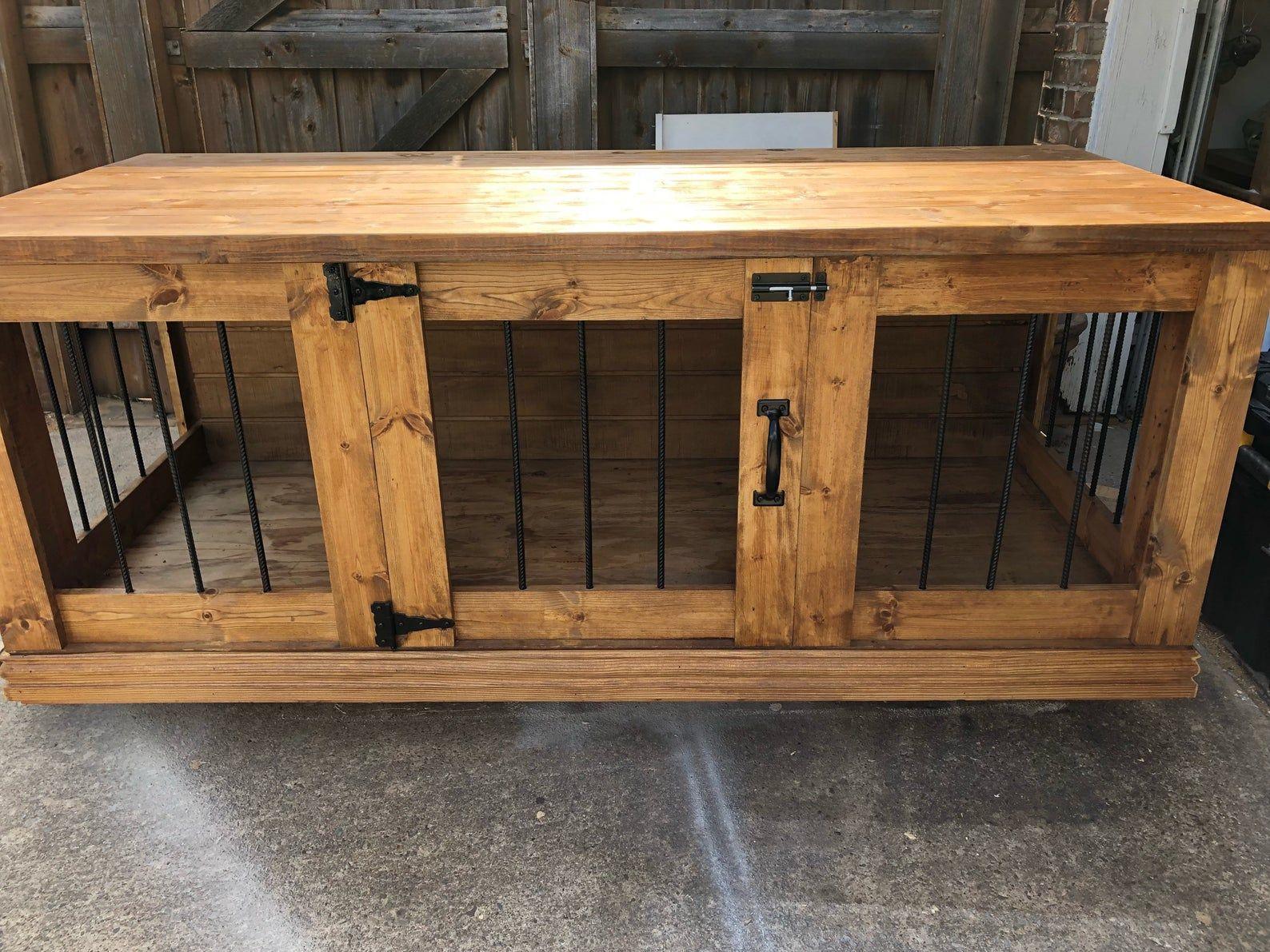farmhouse dog crate plans