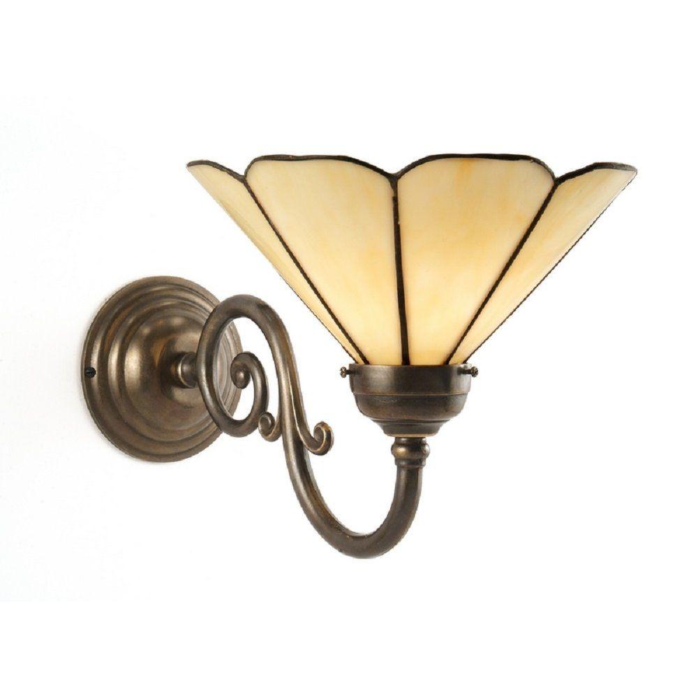 Wall Lights Traditional: Classic British Lighting GRANDE aged brass traditional Tiffany single wall  light,Lighting