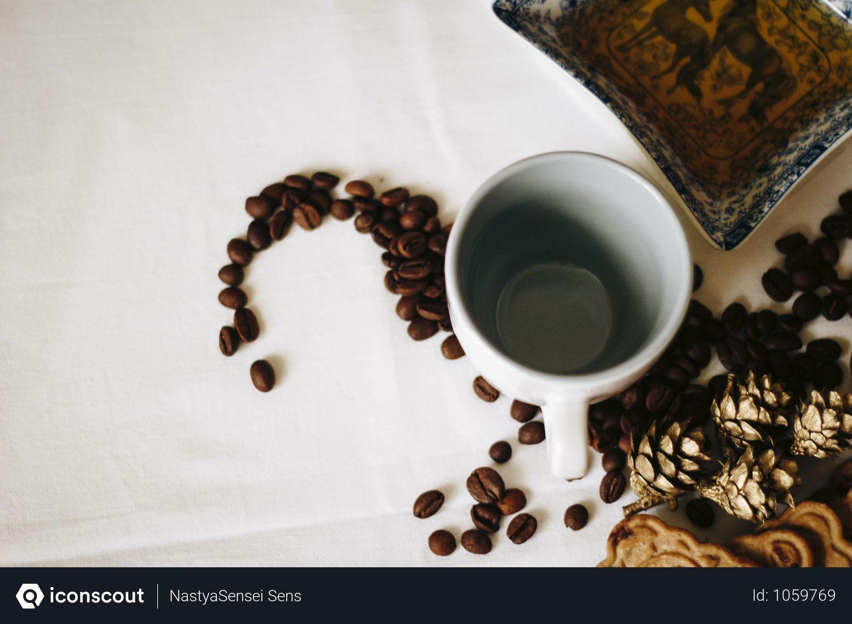 Free Brown Coffee Beans Near White Ceramic Mug Photo Download In Png Jpg Format Enjoy Coffee Gourmet Coffee Coffee Beans
