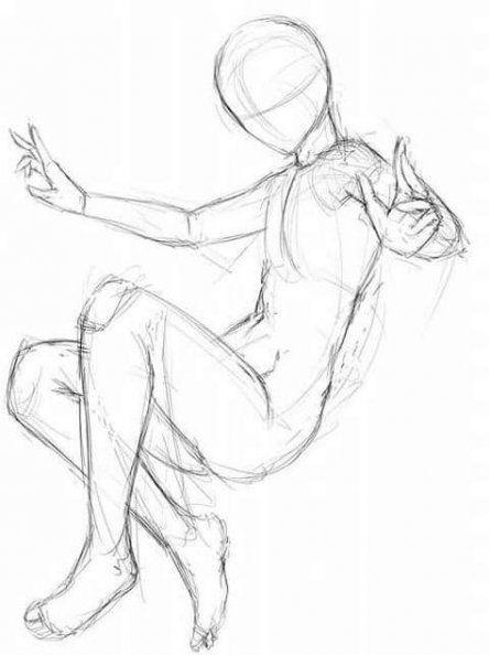 Anime Poses Female : anime, poses, female, <Draw>
