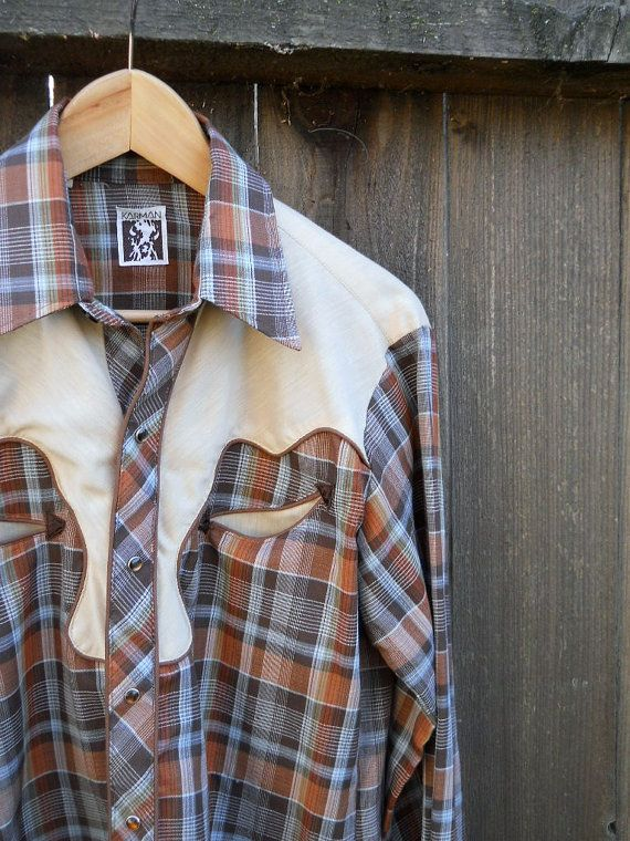 Vintage Pearl Snap Plaid Western Shirt