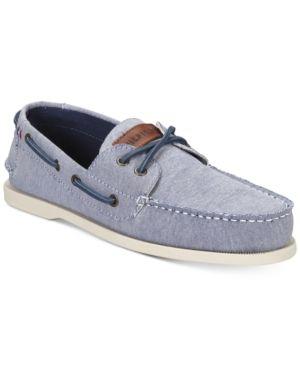 a4dee96efa2e Tommy Hilfiger Men s Bowman 5 Boat Shoes - Blue 10.5