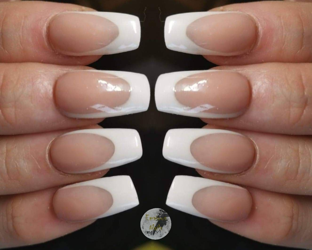French manicure acrylic press on nails choose your nail