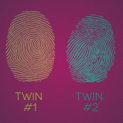 Identical twins may share the exact same DNA, but, for some reason, they do  not have the same fingerprint. It is peculiar, i… | Twins, Genetic  information, Genetics