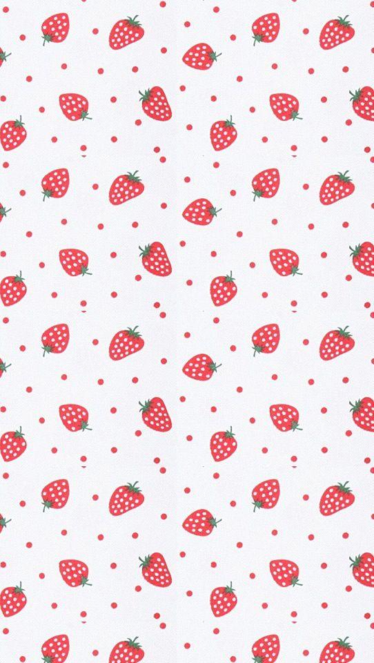 Søtt mønster med jordbær.