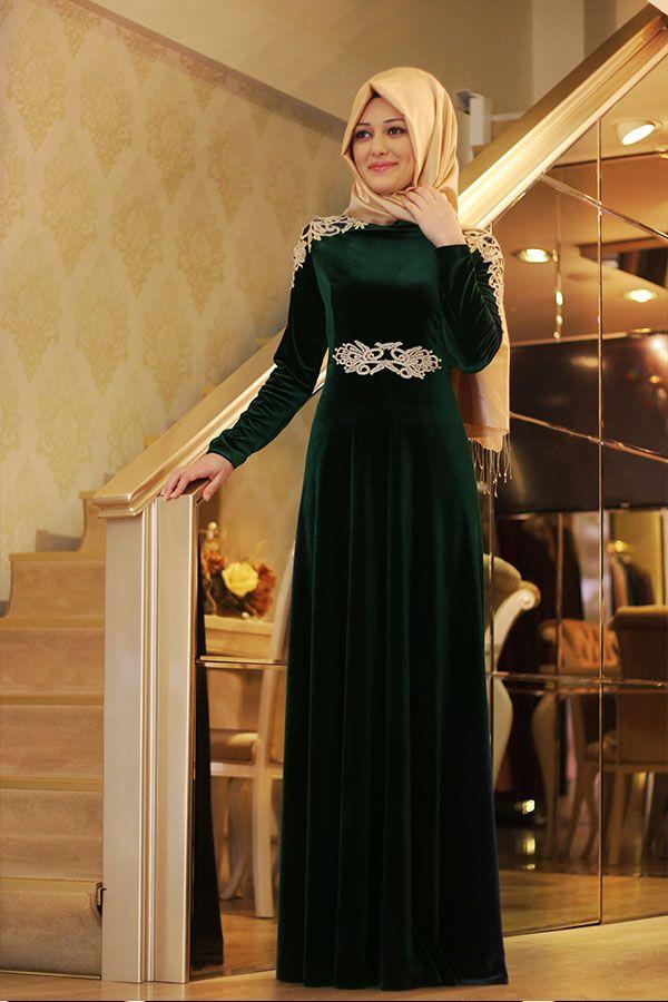Kadife Elbise Modelleri Tesettur Google Da Ara The Dress Islami Moda Elbise