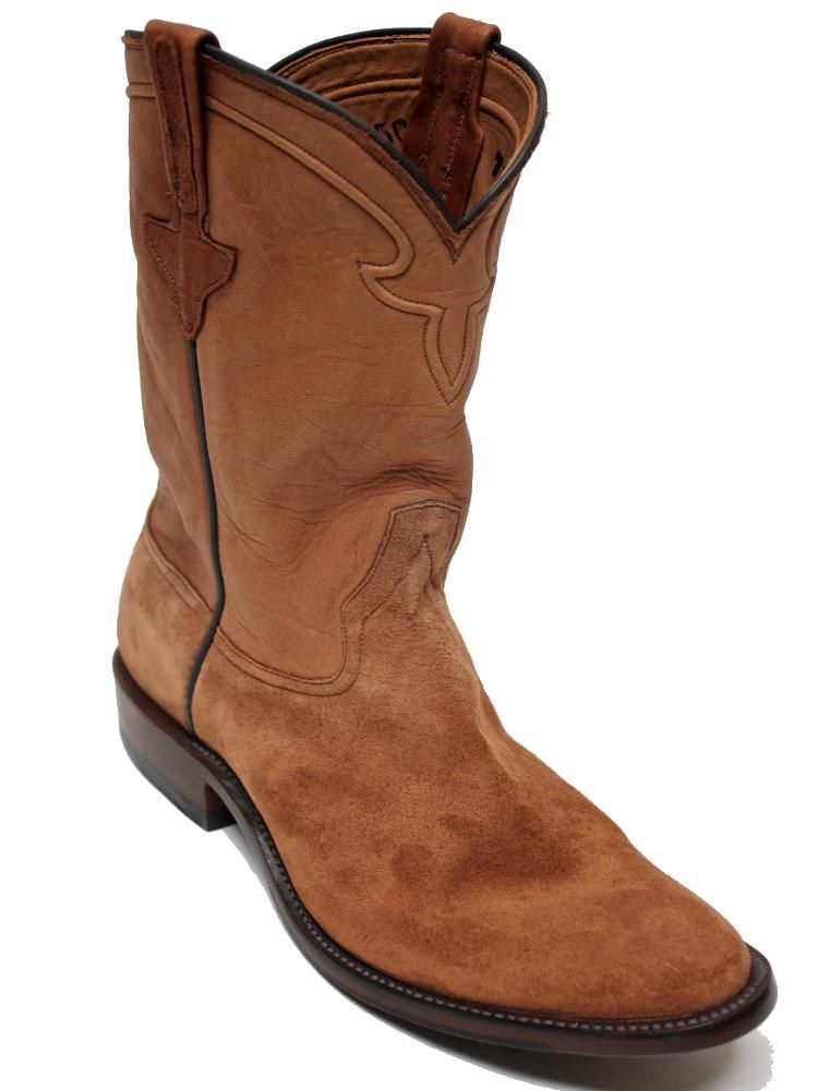 3311b80fc5c Rios of Mercedes Toast Remuda Roughout Roper Brown Mens Boots 7703T ...