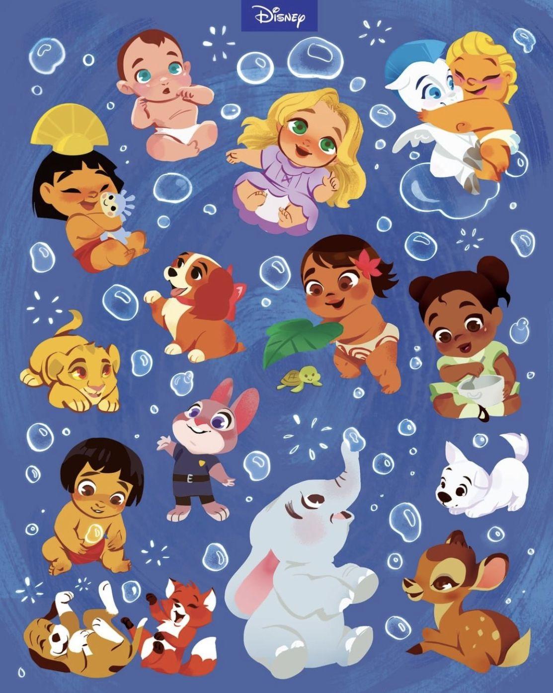 Disney Characters Cute Background Disney Characters Wallpaper Baby Disney Characters Kawaii Disney