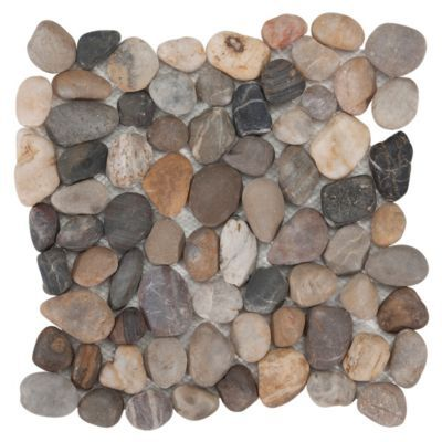 Transform Your Space With Our Line Of Pebble Stone Mosaics ... Glasmosaik Bordre Bad