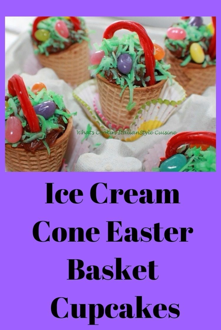 Ice cream cone easter basket cupcakes easter eggs cups ice cream cone easter basket cupcakes easter eggs cups icecreamsandwich cones negle Gallery
