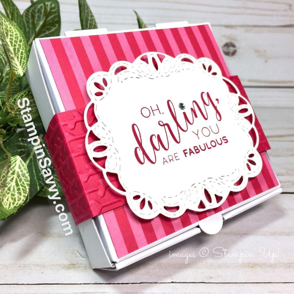 Fabulousud miniature pizza box for mini cards stampinu savvy