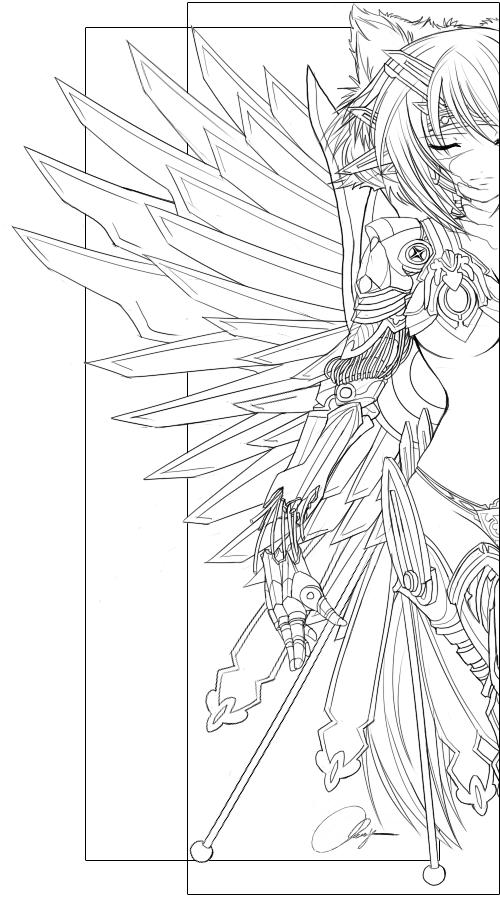 OC- Ophelia Lineart by Nuna.deviantart.com on @deviantART   colorear ...