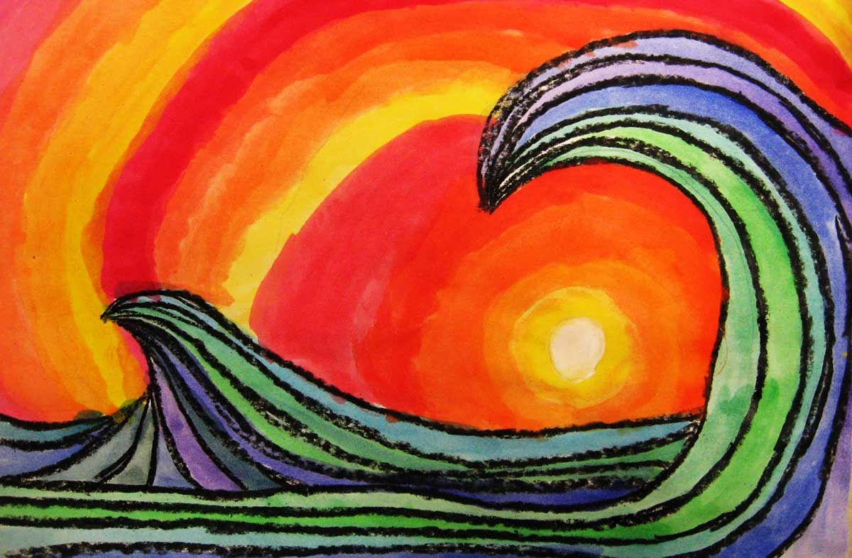 cool warm color Colorful art projects, Cool art projects