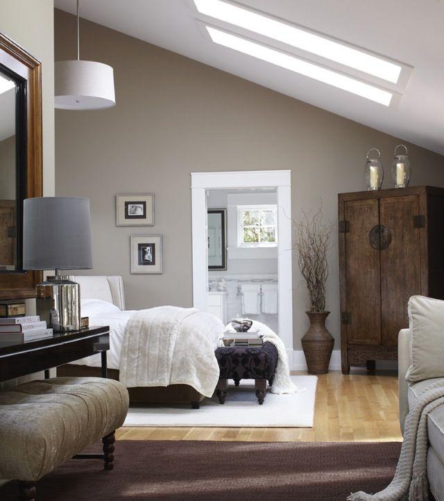 Schlafzimmer Wandfarbe Beige Wandgestaltung Schlafzimmer: Benjamin Moore, Brandon Beige 977 Dark Cabinet
