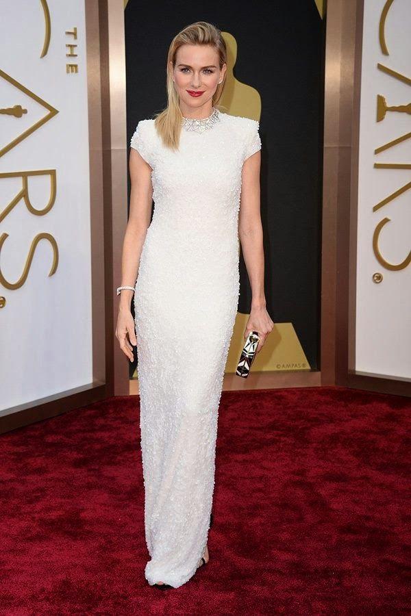 La alfombra roja nupcial de los premios Oscar - Naomi Watts de Calvin Klein divina!!