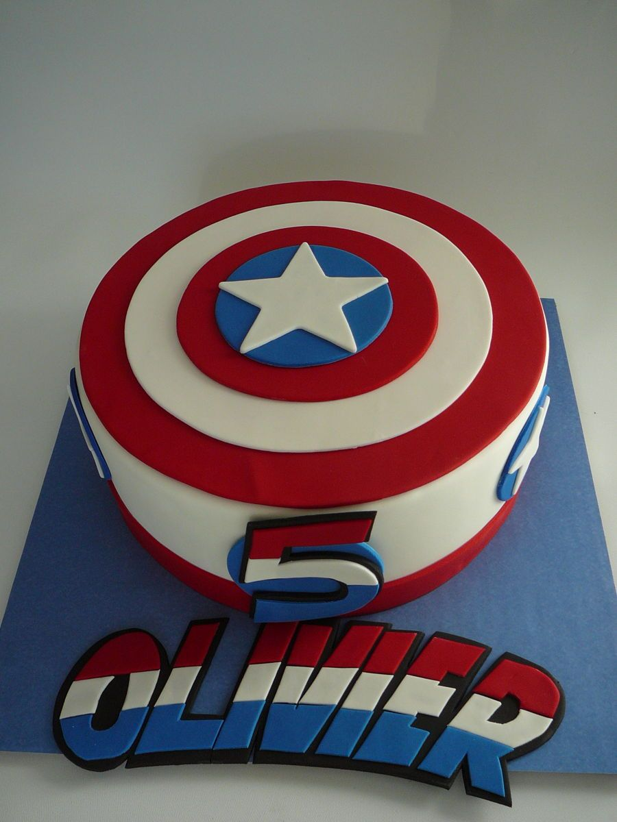 Captain America Kuchen Captain America Captain America For Olivier 5 Years Old