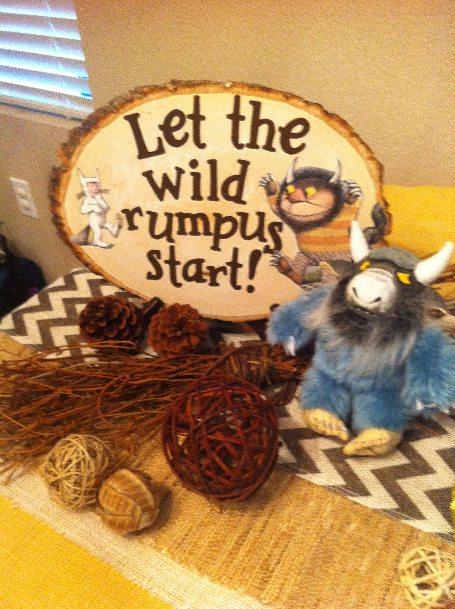 where the wild things are wood slab from michaels vinyl letters cut with cricut