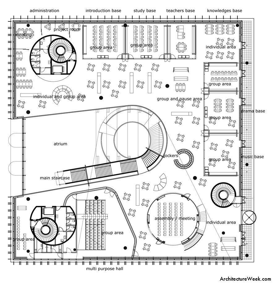 Architectureweek image college in copenhagen school planprimary