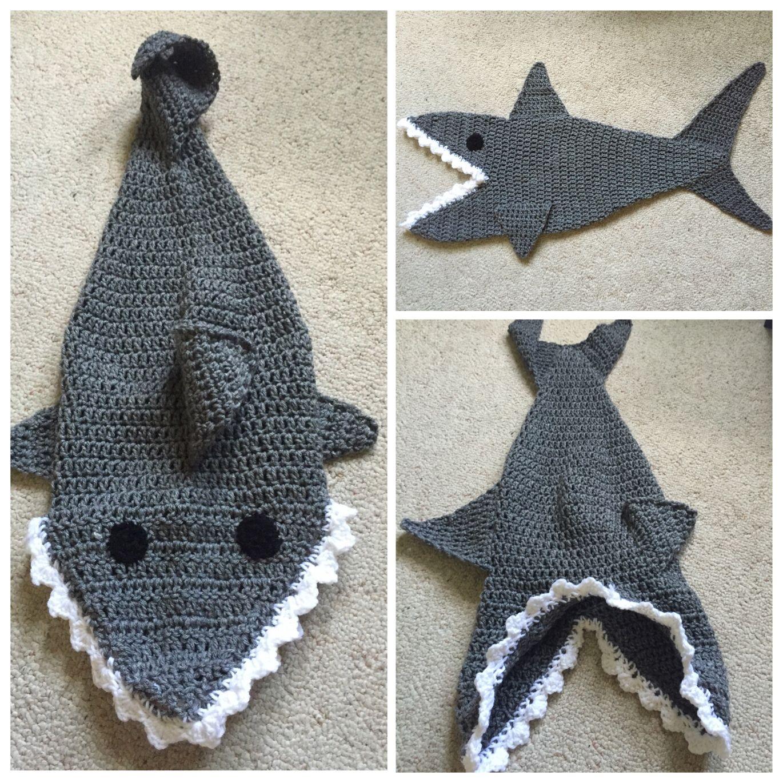 Increíble Zapatillas De Ganchillo Patrón Libre De Tiburón Ideas ...