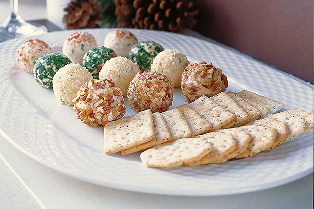 They may look as cute as holiday chocolates, but these mini cheese balls are made for those of us who love a little cayenne and sharp…