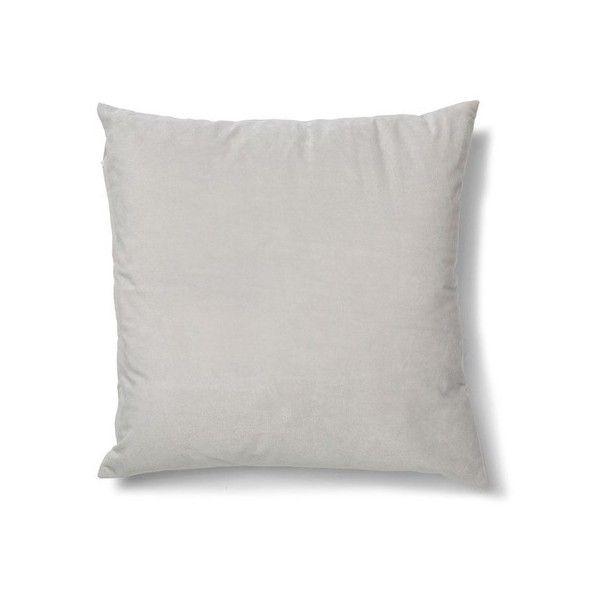 Velvet Cushion Silver Kmart 40 AUD Via Polyvore Featuring Home Unique Kmart Decorative Pillows