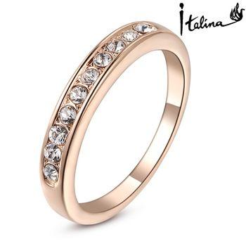 Fashion Classic Womens Wedding Band Yellow Gold Cubic Zirconia Crystal Rings UK