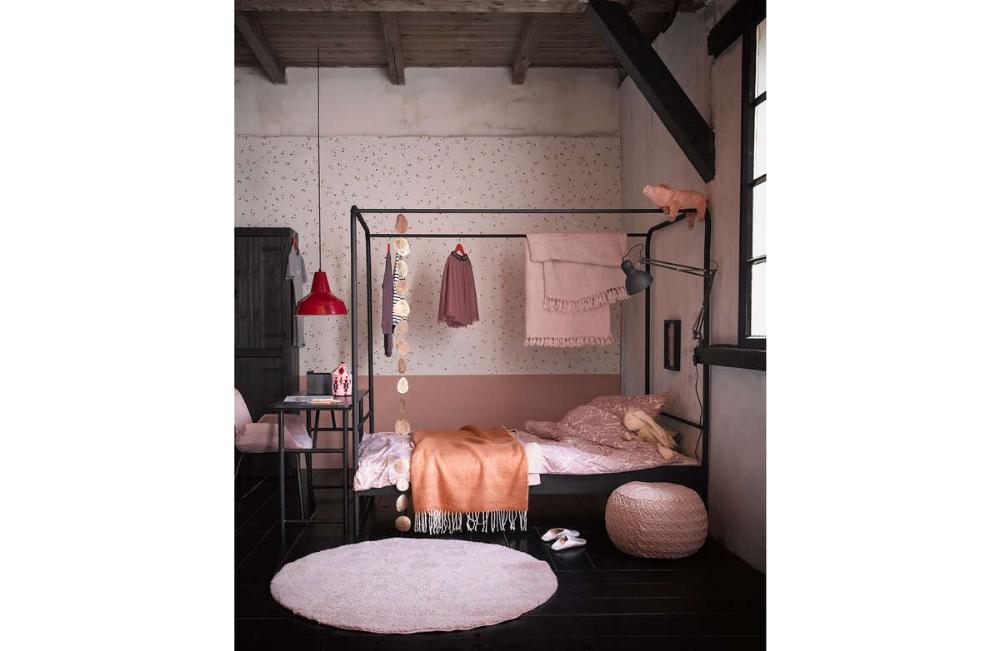 Lozko Dzieciece Metalowe Woood Bunk Czarne 90x200 Little Room Bed Bunks Loft Bed