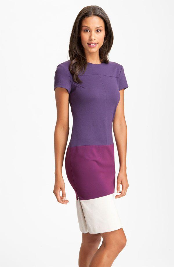 Donna Morgan Colorblock Ponte Knit Sheath Dress (Online Exclusive ...