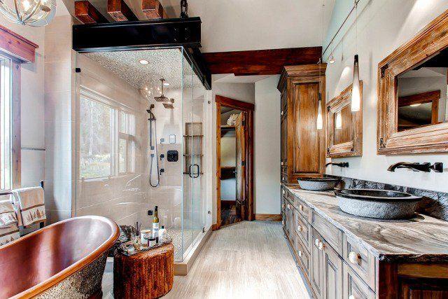 Meubles salle de bain et décoration dans le style rustique | Meuble ...