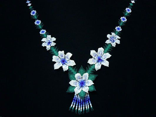 1000+ images about Collares Flores Mostacilla on Pinterest