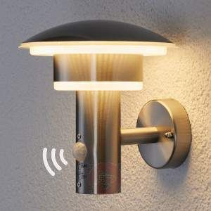 led stainless steel outdoor wall light lillie in a modern northern