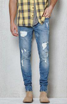 73f46856cdb Skinny Destroyed Hiroshi Wash Stretch Jeans | Dope Board | Jeans ...