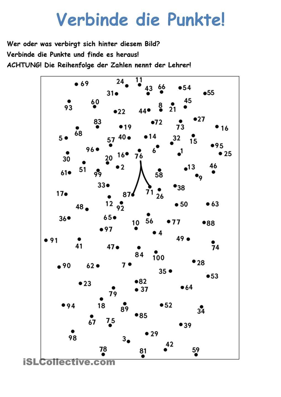 Verbinde die Punkte: Zahlen 1 - 100 | Zahlen und Punkt