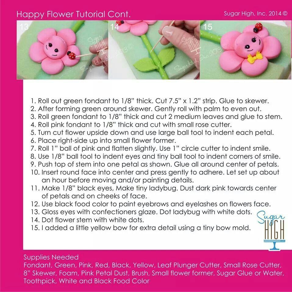 Standing  flower tutorial p.2
