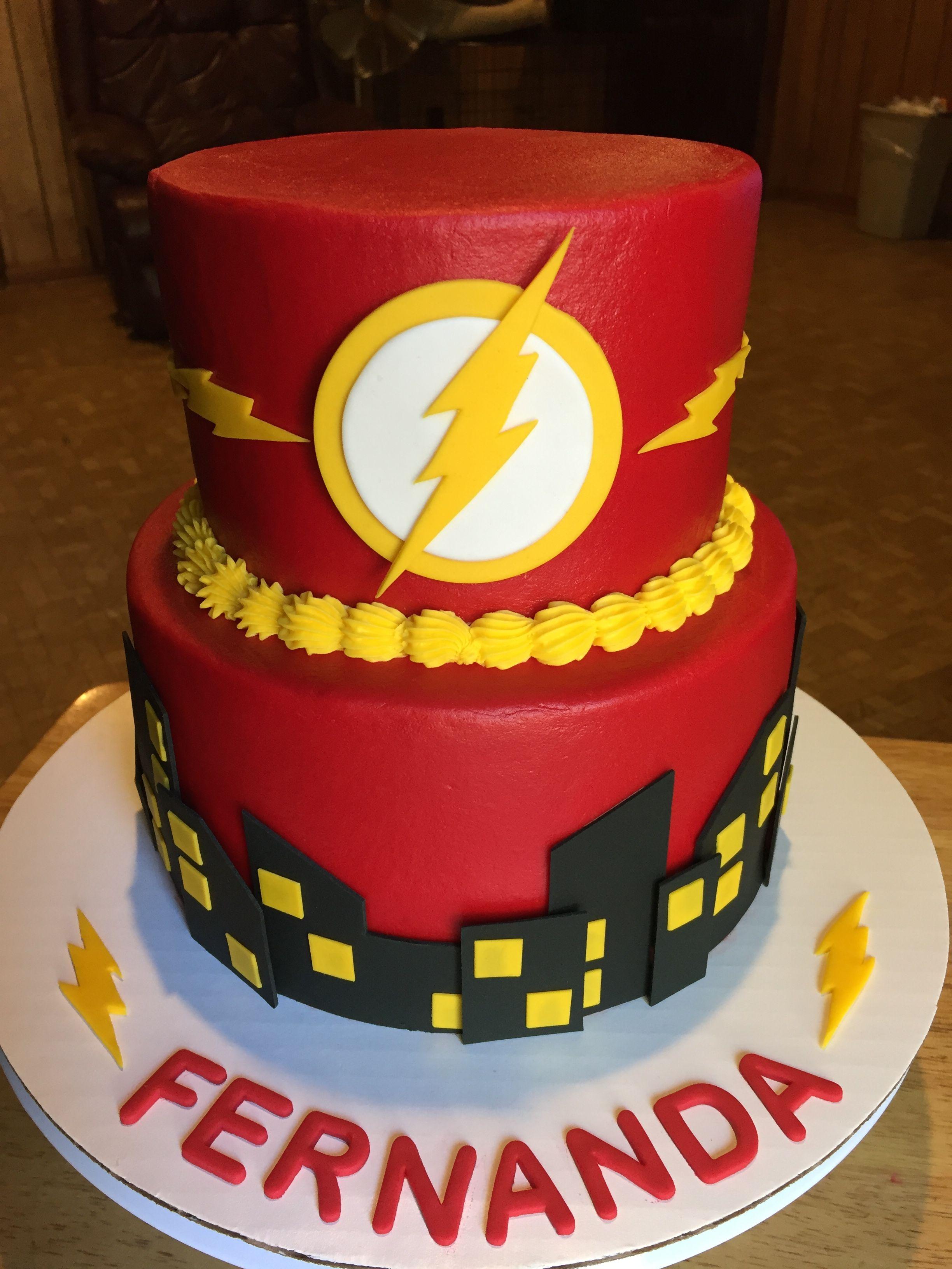 Dc Flash Cake ⚡️ My Cakes Festa Festa Her 243 Is Bolos