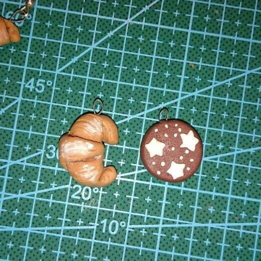 Polimery clay charms Pan di Stelle e Brioches
