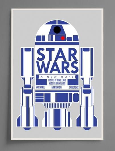 R2D2 Concept Poster For A New Hope These Blue White Colors And Dome