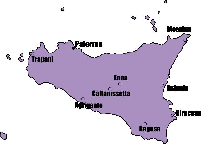 Agrigento Italy Map.Sicilia Sicily Palermo Taormina Catania And Agrigento