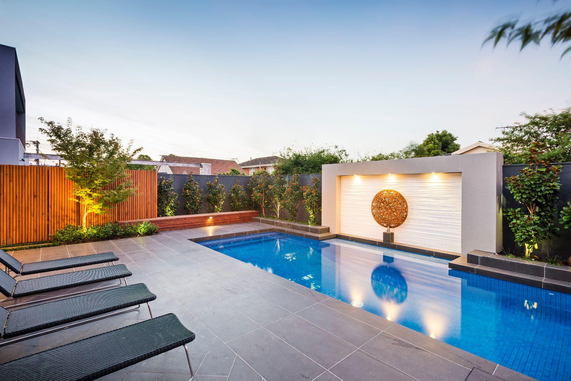 Pool Landscape Design Modern Landscape Design Modern Landscaping Contemporary backyard design with pool