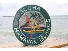 "YOU CAN BUY THIS ITEM! Handcrafted  Aloha Hawaiian Islands 16"" Sign - Vintage Hawaiiana - $67.95 www.pentizon.com"