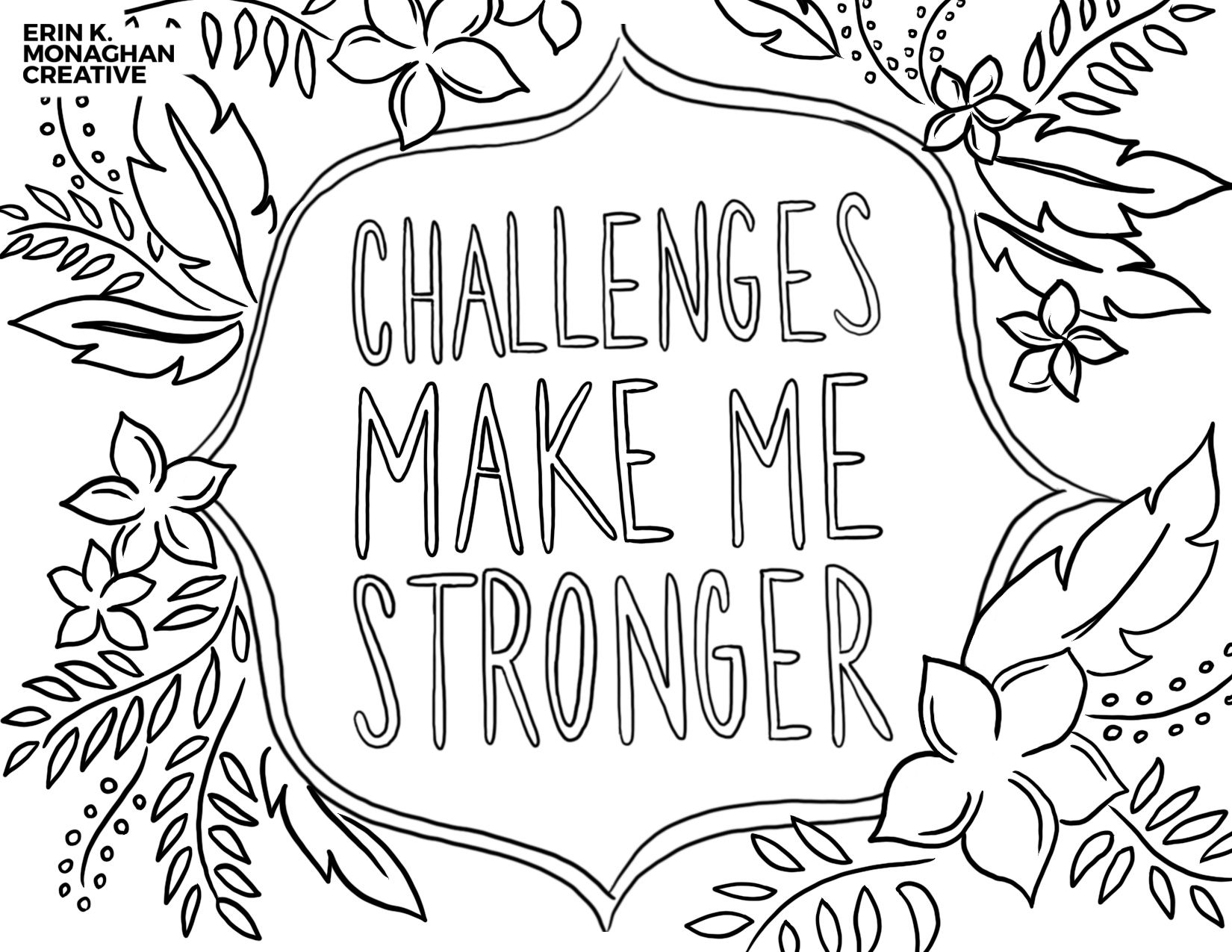 Free Coloring Pages For Growth Mindset Download Now