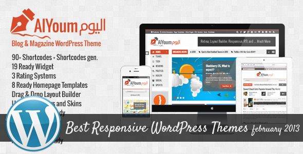 Best Responsive WordPress Themes of February 2013 | WordPress Themes ...