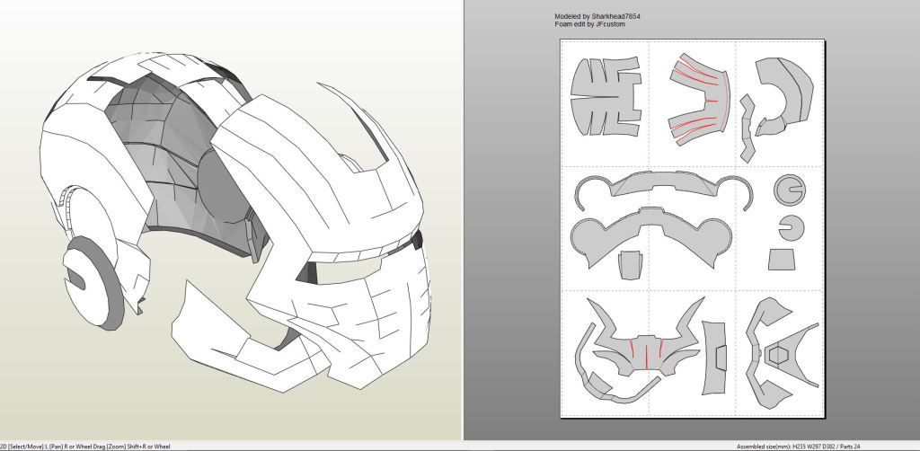 deathstroke armor template - papercraft pdo file template for iron man mark 2 full